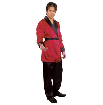 ADULT COSTUMES  Men  Decades  Burgundy Satin Smoking Jacket - Mardi Gras Costume Shop | Costumes for Rent and for Sale in Scottsdale  sc 1 st  Mardi Gras Costume Shop & ADULT COSTUMES :: Men :: Decades :: Burgundy Satin Smoking Jacket ...